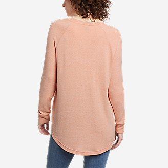 Thumbnail View 2 - Women's Brushed Jersey V-Neck Top