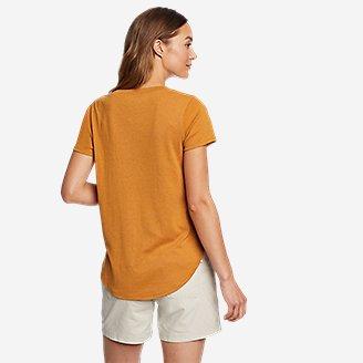 Thumbnail View 2 - Women's Favorite Short-Sleeve Shirttail T-Shirt
