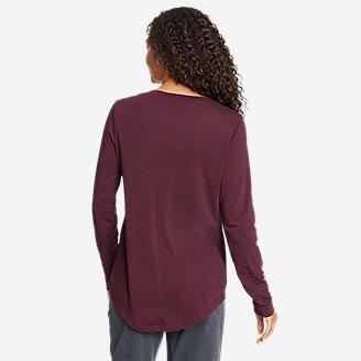 Thumbnail View 2 - Women's Ophelia Long-Sleeve Notch-Neck T-Shirt