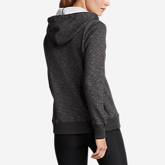 Thumbnail View 2 - Women's Brushed Fleece Hooded Pullover