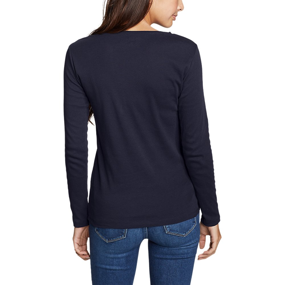 Eddie-Bauer-Women-039-s-Favorite-Long-Sleeve-Crewneck-T-Shirt thumbnail 4