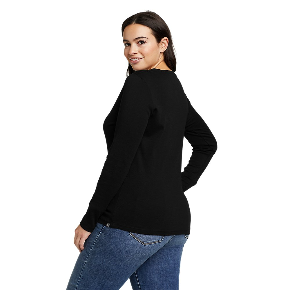 Eddie-Bauer-Women-039-s-Favorite-Long-Sleeve-Crewneck-T-Shirt thumbnail 9