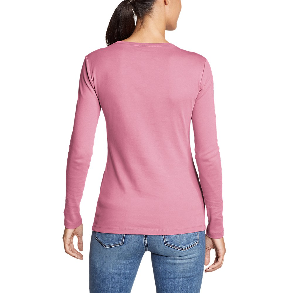 Eddie-Bauer-Women-039-s-Favorite-Long-Sleeve-Crewneck-T-Shirt thumbnail 18