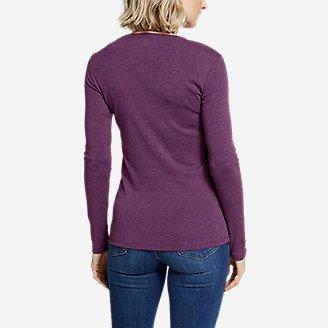 Thumbnail View 2 - Women's Favorite Long-Sleeve Crewneck T-Shirt
