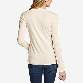 Thumbnail View 2 - Women's Favorite Long-Sleeve Crewneck T-Shirt