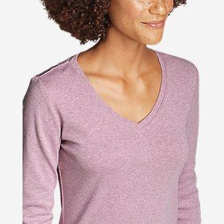 Thumbnail View 3 - Women's Favorite Long-Sleeve V-Neck T-Shirt
