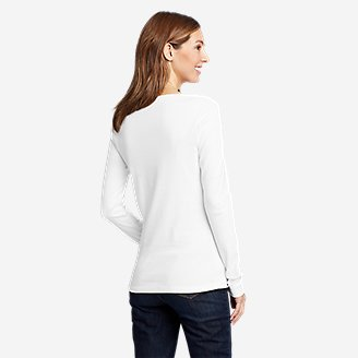 Thumbnail View 2 - Women's Favorite Long-Sleeve V-Neck T-Shirt