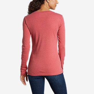 Thumbnail View 2 - Women's Favorite Long-Sleeve V-Neck T-Shirt
