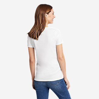 Thumbnail View 2 - Women's Favorite Short-Sleeve V-Neck T-Shirt