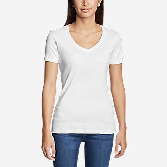 Thumbnail View 3 - Women's Favorite Short-Sleeve V-Neck T-Shirt