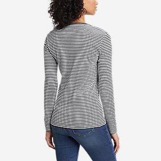 Thumbnail View 2 - Women's Favorite Long-Sleeve Crew T-Shirt - Stripe