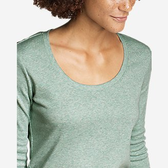 Thumbnail View 2 - Women's Favorite 3/4-Sleeve Scoop-Neck T-Shirt