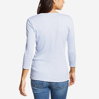 Thumbnail View 2 - Women's Favorite 3/4-Sleeve Scoop-Neck T-Shirt