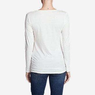 Thumbnail View 2 - Women's Pima Scoop-Neck T-Shirt - Solid