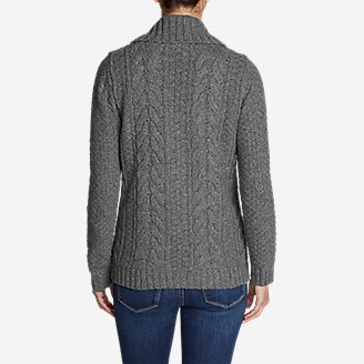 Thumbnail View 2 - Women's Cable Fable Sweater Coat