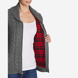 Thumbnail View 3 - Women's Cable Fable Sweater Coat