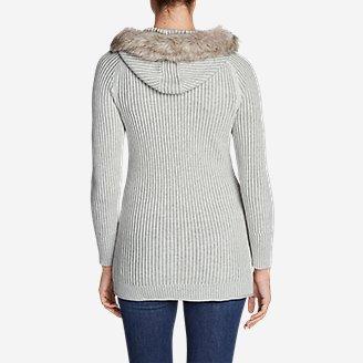Thumbnail View 2 - Women's Shasta Faux Fur Hooded Cardigan Sweater