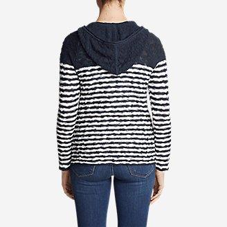 Thumbnail View 2 - Women's Westbridge Hoodie Sweater - Stripe