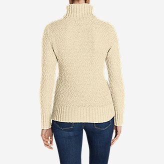 Thumbnail View 2 - Women's Cable Fable Turtleneck Sweater