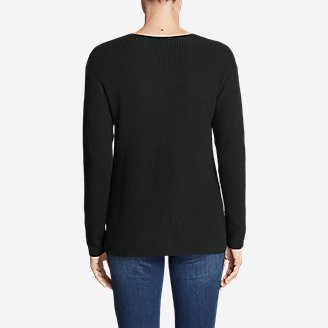 Thumbnail View 2 - Women's Christine Rib V-Neck Sweater