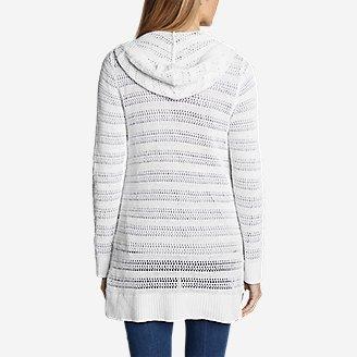 Thumbnail View 2 - Women's Sandshore Hooded Cardigan Sweater