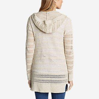Thumbnail View 2 - Women's Sandshore Hooded Cardigan Sweater