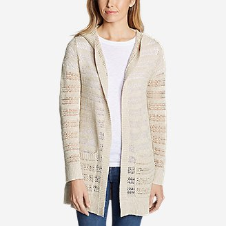 Thumbnail View 3 - Women's Sandshore Hooded Cardigan Sweater