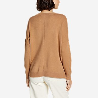 Thumbnail View 2 - Women's Easy Crewneck Sweater - Solid