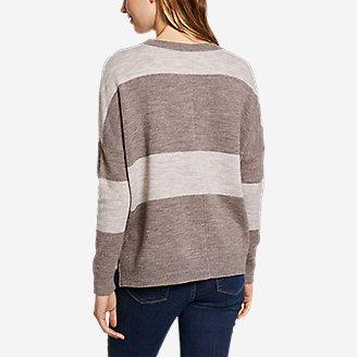 Thumbnail View 2 - Women's Easy Crewneck Sweater - Stripe