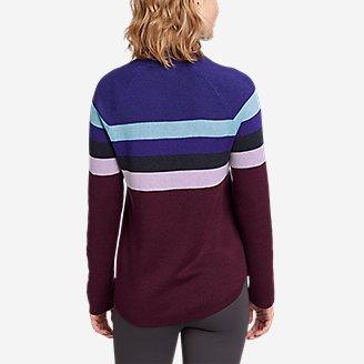 Thumbnail View 2 - Women's Engage Stripe 1/4-Zip Sweater