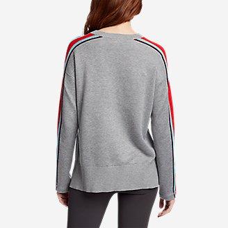 Thumbnail View 2 - Women's Engage Stripe-Sleeve Crewneck Sweater