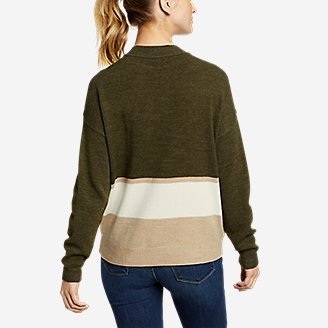 Thumbnail View 2 - Women's Color-Blocked Pullover Crew