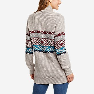 Thumbnail View 2 - Women's Geo Printed Cardigan Sweater