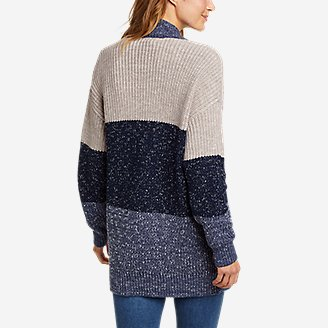 Thumbnail View 2 - Women's Color-Blocked Cardigan Sweater