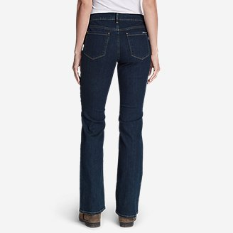 Thumbnail View 2 - Women's StayShape® Boot Cut Jeans - Curvy