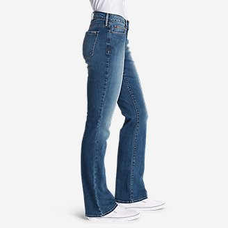 Thumbnail View 3 - Women's StayShape® Boot Cut Jeans - Curvy