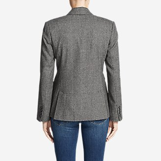 Thumbnail View 2 - Women's Classic Wool-Blend Blazer - Pattern