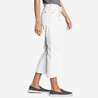 Thumbnail View 3 - Women's Boyfriend Cropped Jeans - White