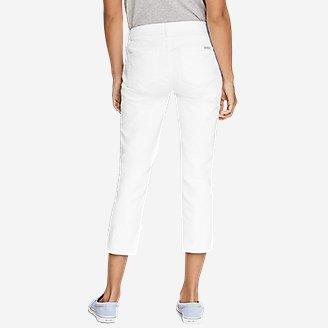 Thumbnail View 2 - Women's StayShape® Crop White Jeans - Curvy