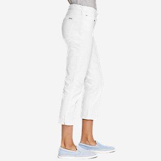 Thumbnail View 3 - Women's StayShape® Crop White Jeans - Curvy