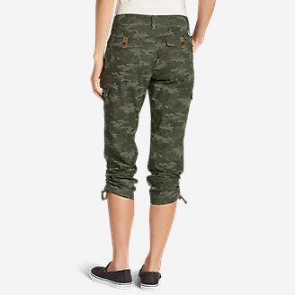 Thumbnail View 2 - Women's Adventurer® Stretch Ripstop Cropped Cargo Pants - Camo - Slightly Curvy