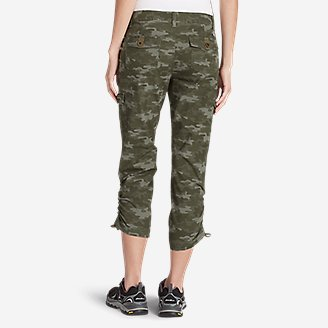 Thumbnail View 3 - Women's Adventurer® Stretch Ripstop Cropped Cargo Pants - Camo - Slightly Curvy