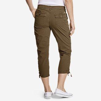 Thumbnail View 2 - Women's Adventurer® Stretch Ripstop Crop Cargo Pants - Slightly Curvy