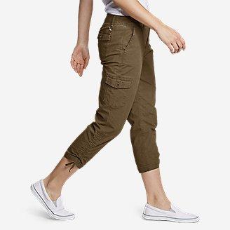 Thumbnail View 3 - Women's Adventurer® Stretch Ripstop Crop Cargo Pants - Slightly Curvy