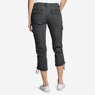 Thumbnail View 2 - Women's Adventurer® Stretch Ripstop Crop Cargo Pants - Slightly Curvy