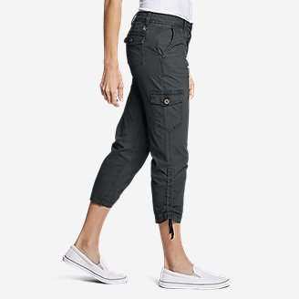 Thumbnail View 3 - Women's Adventurer® Stretch Ripstop Crop Cargo Pants - Slightly Curvy