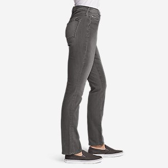 Thumbnail View 3 - Women's Curvy StayShape® Jeans - Straight Leg (River Rock Wash)