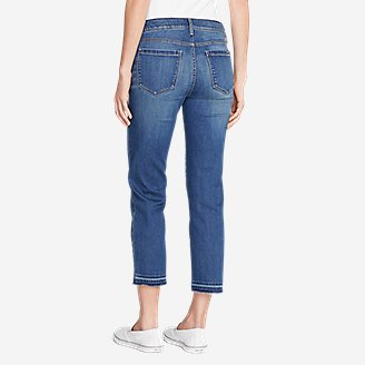 Thumbnail View 2 - Women's Elysian Slim Straight Crop Jeans - Release Hem