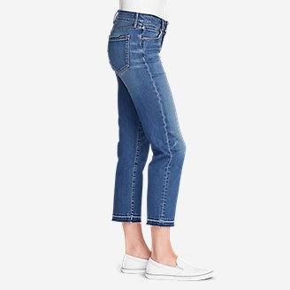 Thumbnail View 3 - Women's Elysian Slim Straight Crop Jeans - Release Hem
