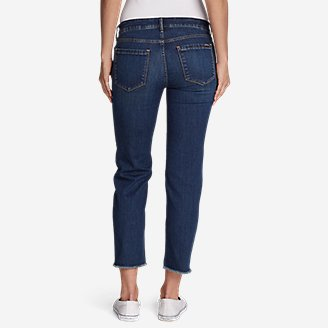 Thumbnail View 2 - Women's Elysian Slim Straight Crop Jeans - Raw Edge